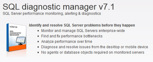 Image for Idera diagnostic manager version 7 SQL tool